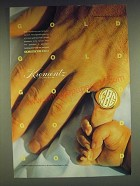 1985 Krementz 14 Karat Gold Jewelry Ad - Gold