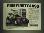 1985 Snapper LT11 Lawn Mower Ad - Ride first class
