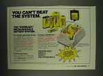 1985 Eveready Rechargeable Battery System Ad - You can't beat the system