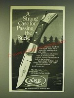 1985 Case Shark Tooth Knife Ad - A strong Case for passing the Buck