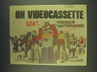 1985 f.h.e. Family Home Entertainment Transformers Videocassette Ad