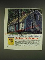 1985 Cabot's Stains Ad - Wood and Cabot's Stains… made for each other