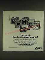 1985 Allied Corporation Child's Play NOVA PBS TV Show Ad