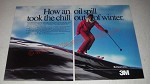 1985 3M Thinsulate Thermal Insulation Ad - How an oil spill took the chill out