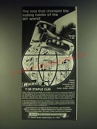 1984 Arrow T-50 Staple Gun Ad - The tool that changed the nailing habits