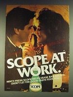 1984 Scope Mouthwash Ad - Scope at work
