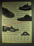 1984 G.H. Bass Shoes Ad - Since 1876, G.H. Bass has been making classics