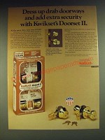 1984 Kwikset Doorset II Ad - Dress up drab doorways and add extra security