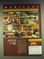 1984 Merillat Cabinets Ad -  Meadow Cathedral/Oak, Omni, Harvest Cathedral Oak
