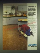1984 Congoleum Accent Vinyl Floor Ad - Congoleum's Law: Do-it-yourself