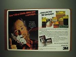 1984 3M Sandpaper Ad - Save $1.50 on Gillette Atra razor & cartridges