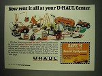 1984 U-Haul Rental Center Ad - Now rent it all at your U-Haul Center