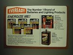 1984 Eveready Ad - Energizer Batteries, Economy Compact Flashlights, Lantern