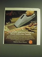 1984 Hoover Help-Mate II Hand Vac Ad - The power tool you'll have to share