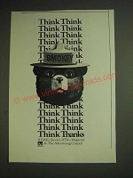 1984 U.S. Forest Service with Smokey the Bear Ad - Think Think Think Think