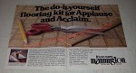 1984 Mannington Applause Collection Vinyl Floor Ad - do-it-yourself