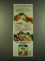 1983 Hidden Valley Ranch Dressing Ad - Tossed Green and Macaroni Salad