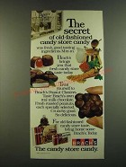 1983 Brach's Candy Ad - The secret of old-fashioned candy store candy