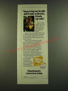 1983 Fleischmann's Margarine Ad - Improving my health didn't take a miracle