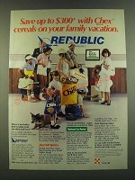 1983 Ralston Chex Cereal Ad - Save up to $300 with Chex cereals on your family
