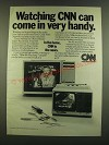 1983 CNN Cable News Network Ad - Al Carrell Home Repair & Mike the Mechanic