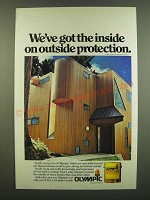 1983 Olympic Stain Ad - We've got the inside on outside protection