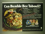 1983 Bumble Bee Seafood Ad - recipe for Tuna Tabouli