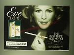 1983 Eve Lights cigarettes Ad - The first thing you notice is taste