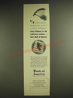 1948 Bank of America Ad - 1/7 of the nation's construction market