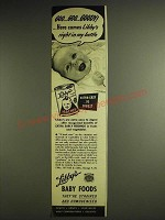 1948 Libby's Baby Foods Ad - Goo Goo Goody! Here comes Libby's