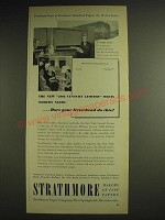 1948 Strathmore Paper Ad - The new 20th Century Limited meets modern needs