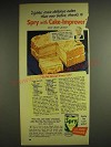 1948 Spry Shortening Ad - Orange Dream Cake recipe