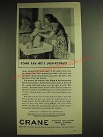 1948 Crane Bath Fixtures Ad - Some day he'll understand