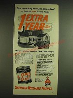 1948 Sherwin-Williams Paints Ad - Now something extra has been added