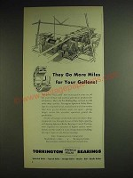 1948 Torrington Spherical roller bearings Ad - they go more miles