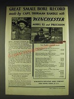 1932 Winchester Model 52 Rilfe and Precision Cartridges Ad - Great small bore
