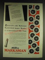 1932 Western Marksman Cartridges Ad - Results with Marksman convince