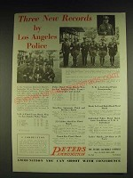 1932 Peters Ammunition Ad - Three new records by Los Angeles Police