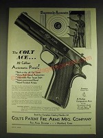 1932 Colt Ace .22 Caliber Automatic Pistol Ad - Supremely Accurate!