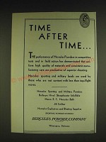 1932 Hercules Powder Company Ad - Time after time