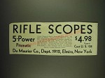 1932 Du Maurier Rifle Scopes Ad