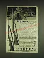 1932 Stevens Model 417 and 418 Rifles Ad - Big news