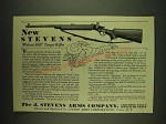 1932 Stevens Walnut Hill No. 417-1 Target Rifles Ad - New Stevens Walnut Hill