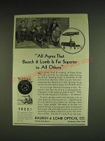 1932 Bausch & Lomb Spotting Scope Ad - All agree