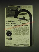 1932 Bausch & Lomb Spotting Scope Ad - Make higher scores