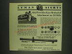 1932 Lyman Sight Ad - 48-J Micrometer Receiver, 17-A Front, 5-A Telescopic