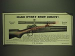 1932 J.W. Fecker Small Game Scope Ad - Make every shot count