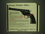 1932 Harrington & Richardson Single Action .22 Target Revolver Ad - Ready