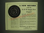 1932 Harrington & Richardson Single Shot Pistol Ad - A new record