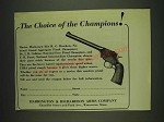 1932 Harrington & Richardson USRA Pistol Ad - The choice of champions!